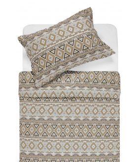 Flannel bedding set BRIDGET 40-1165-BROWN