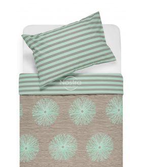 Kokvilnas gultas veļa DEMAS 40-0681/30-0401-CACAO/MINT