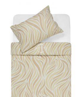 Flannel bedding set BARBARA 30-0602-BEIGE