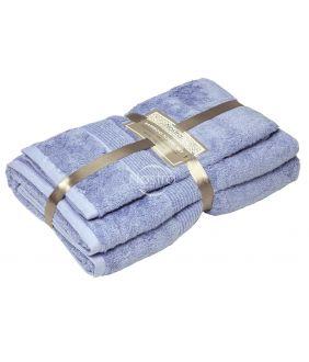 Бамбуковые набор полотенец BAMBOO-600 T0105-SOFT BLUE