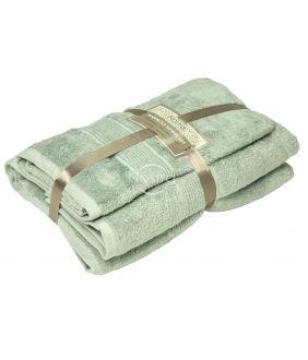 Бамбуковые набор полотенец BAMBOO-600 T0105-SMOKE GREEN