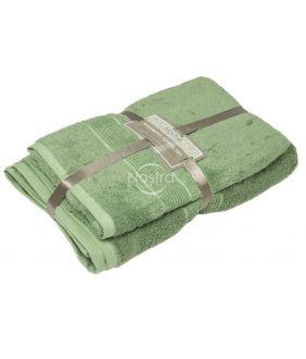 Бамбуковые набор полотенец BAMBOO-600 T0105-MINERAL GREEN