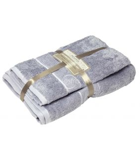 Бамбуковые набор полотенец BAMBOO-600 T0105-GREY BLUE
