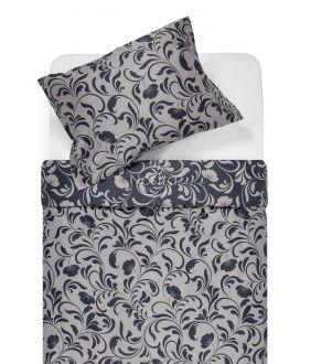 Satīna gultas veļa AFIFA 40-1176-IRON GREY/L.GREY