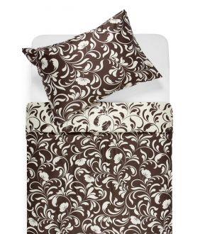 Satīna gultas veļa AFIFA 40-1176-PAPYRUS/CACAO