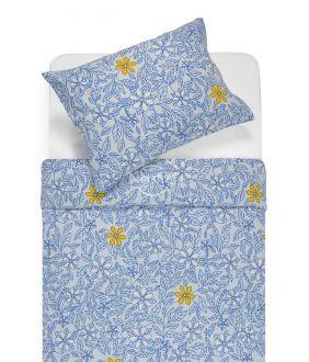 Flannel bedding set BETHANY 20-1549-BLUE