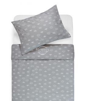 Children bedding set CROWN 10-0073-L.GREY