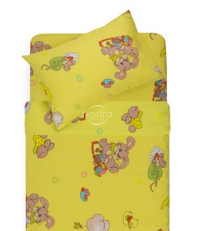 Bērnu katūna gultas veļa GOOD NIGHT BUNNY 10-0417-YELLOW