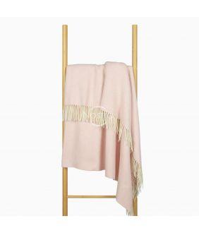 Woolen plaid MERINO-300 80-3131-LIGHT PINK