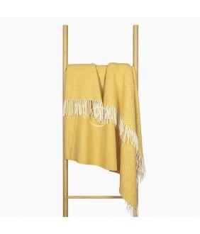 Woolen plaid MERINO-300 80-3042-MUSTARD