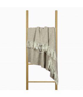 Woolen plaid MERINO-300 80-3127-LIGHT BROWN