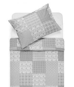 Kokvilnas gultas veļa DORITA 30-0567-GREY