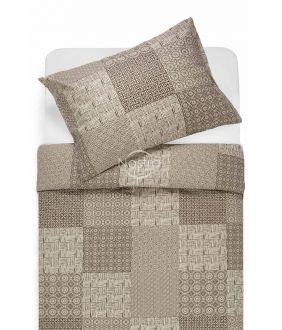 Kokvilnas gultas veļa DORITA 30-0567-BROWN