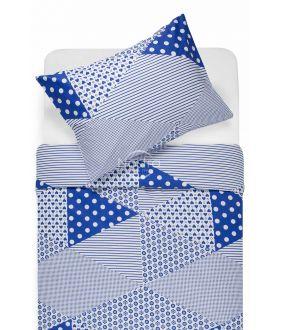 Kokvilnas gultas veļa DORCEY 30-0571-BLUE