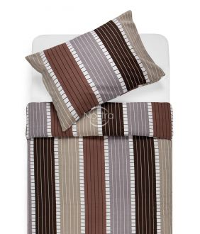Kokvilnas gultas veļa DORA 30-0572-BROWN