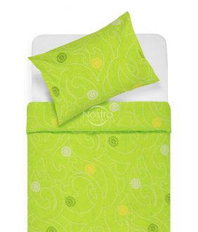 Kokvilnas gultas veļa DONALDA 40-0980-APLLE GREEN