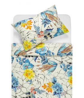 Kokvilnas gultas veļa DIVA 20-1493-YELLOW/BLUE