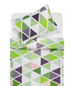 Cotton bedding set DEVRI 30-0615-GREEN