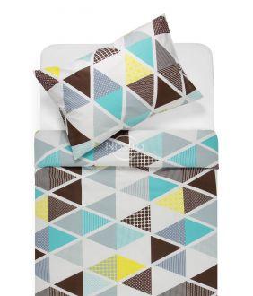 Cotton bedding set DEVRI 30-0615-BROWN