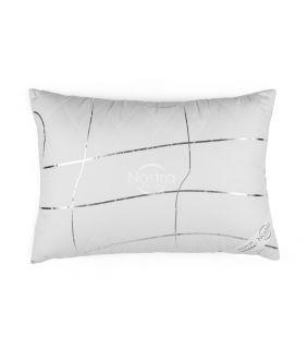 Pillow VASARA with zipper 70-0022-WHITE/SILVER