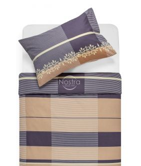 Kokvilnas gultas veļa DOROTE 30-0164-BROWN