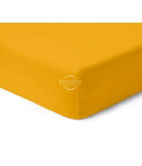 Атласная простыня на резинке 00-0415-MUSTARD