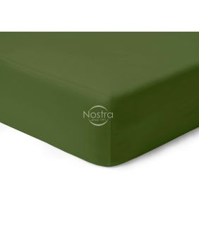 Fitted sateen sheets 00-0413-MOSS GREEN