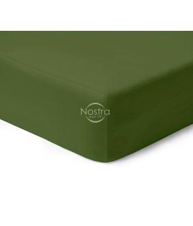 Satīna palagi ar gumiju 00-0413-MOSS GREEN