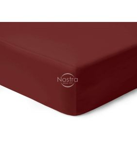 Fitted sateen sheets 00-0412-WINE RED