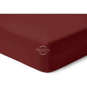 Satīna palagi ar gumiju 00-0412-WINE RED