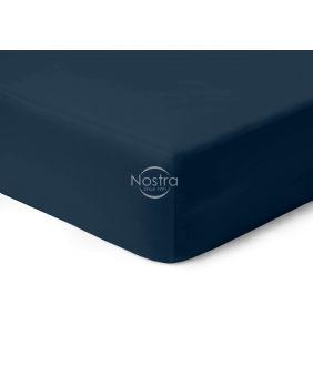 Атласная простыня на резинке 00-0402-BLUE