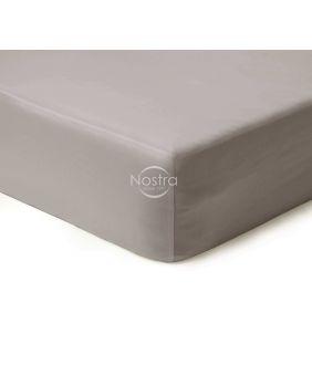 Атласная простыня на резинке 00-0251-L.GREY