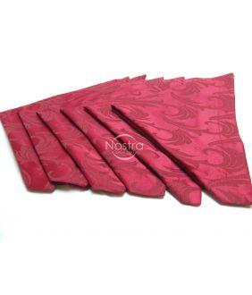 Жаккардовые сатиновые салфетки, 6 штук 80-0005-BORDO